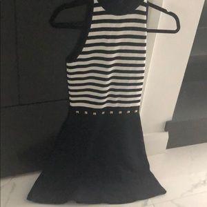 Michael kors Xs navy /white dress